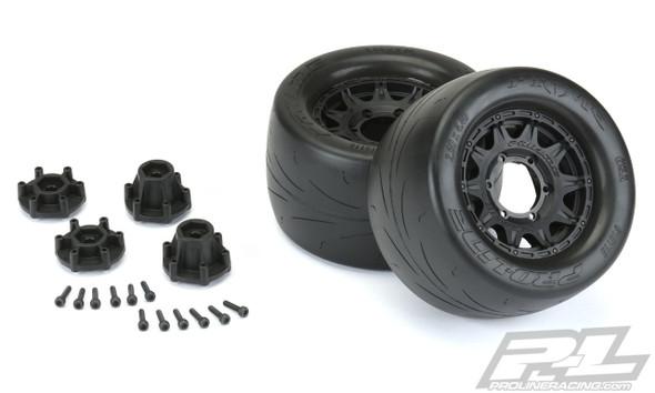 """Pro-Line 10116-10 Prime 2.8"""" Street Black Tires/Wheels (2) : Stampede 2WD/4WD"""