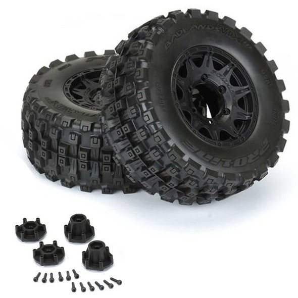 """Pro-Line 10174-10 Badlands MX28 HP 2.8"""" Belted Mounted Raid Tires/Wheels 6x30 F/R (2)"""