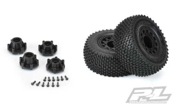 """Pro-Line 1169-12 Gladiator SC 2.2""""/3.0"""" Off-Road Black Tires/Wheels (2) : Slash 2WD"""