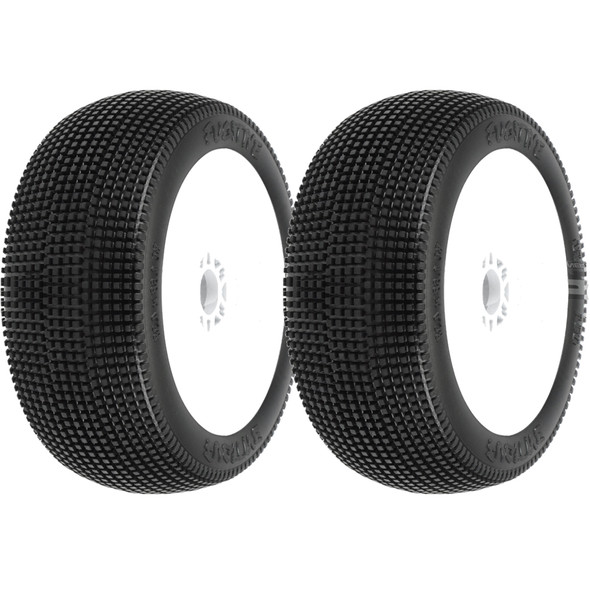 Pro-Line 9052-233 Fugitive Off-Road 1:8 Buggy Tires White Wheels (2) F/R