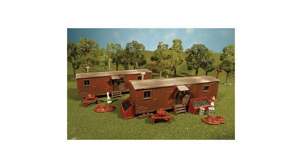 Bachmann HO Built Up Railroad Work Sheds (2) 45009