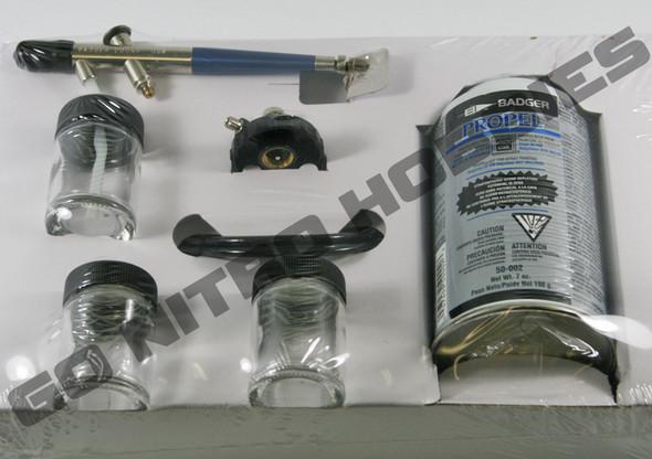 Badger 200 Singe Action Deluxe Medium Airbrush Kit Internal Mix 200-3
