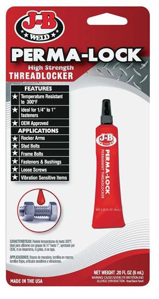 JB Weld J-B Perma-Lock 6ml High Red Threadlocker 27106