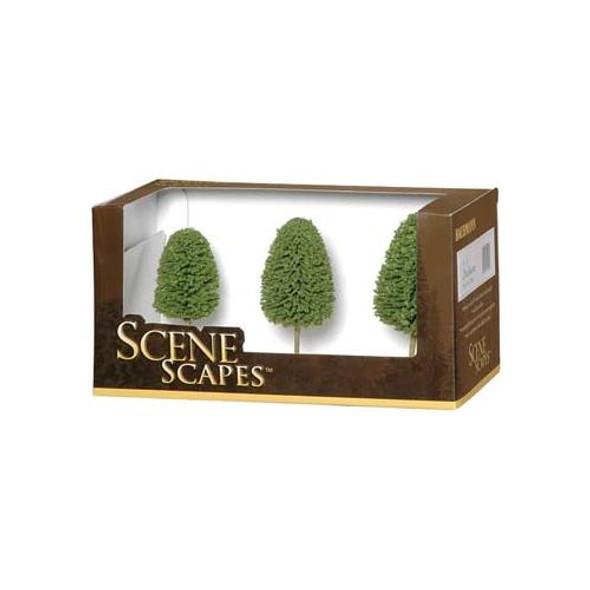 "Bachmann SceneScapes Deciduous Train Trees 3-4"" (3) 32006"