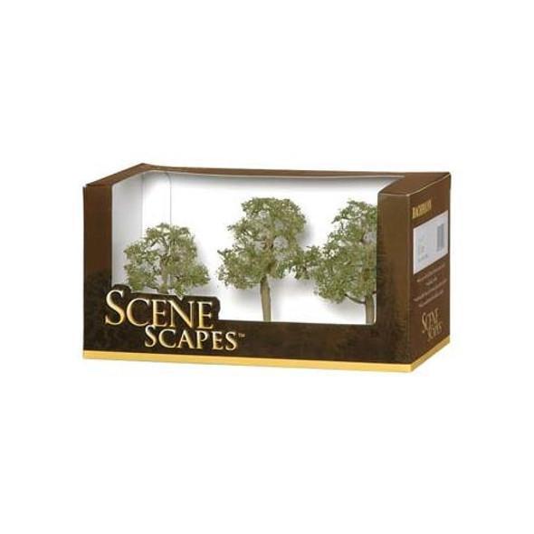 "Bachmann SceneScapes Elm Train Trees 3-4"" (3) 32008"