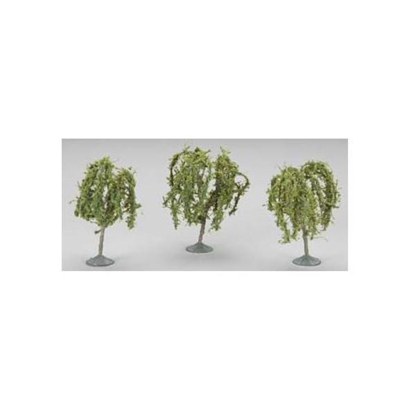 "Bachmann 3-3.5"" Willow Train Trees (3) HO 32014"