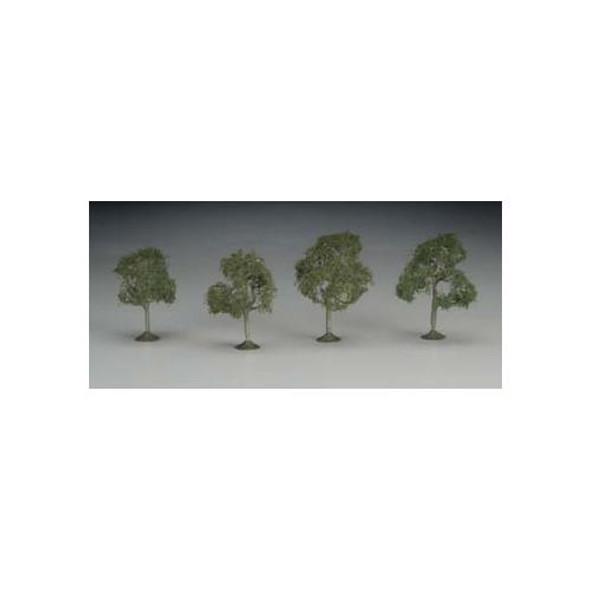 "Bachmann SS 2-2 1/4"" Walnut Train Trees (4) N 32107"