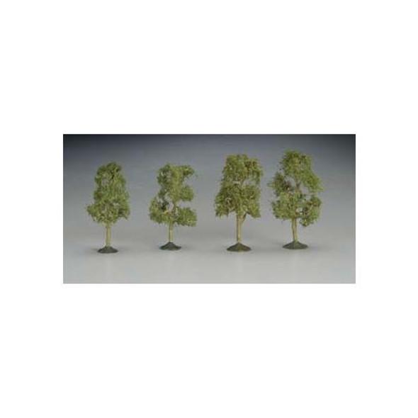 """Bachmann SS 2 1/2-2 3/4"""" Sycamore Train Trees (4) N 32109"""