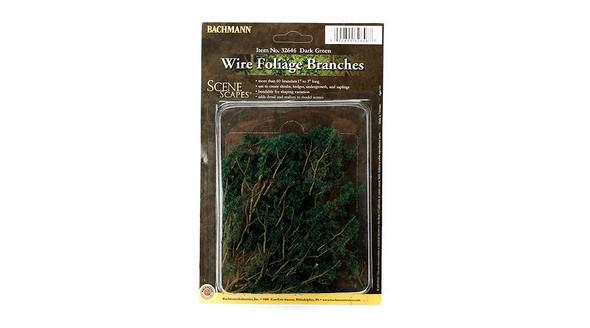 Bachmann Wire Foliage Branches Dark Green (60) 32646