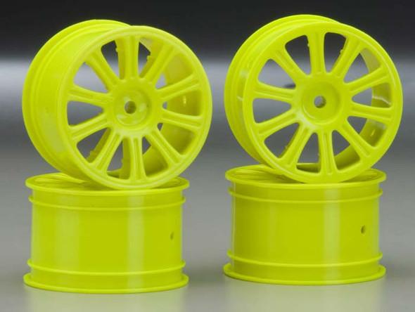 JConcepts 3306Y Rulux Rear Wheels Yellow (4) RC10B4