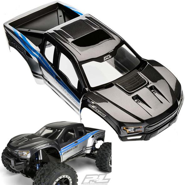 Pro-Line 2017 Ford F-150 Raptor Body Gray/Blue: Traxxas X-Maxx