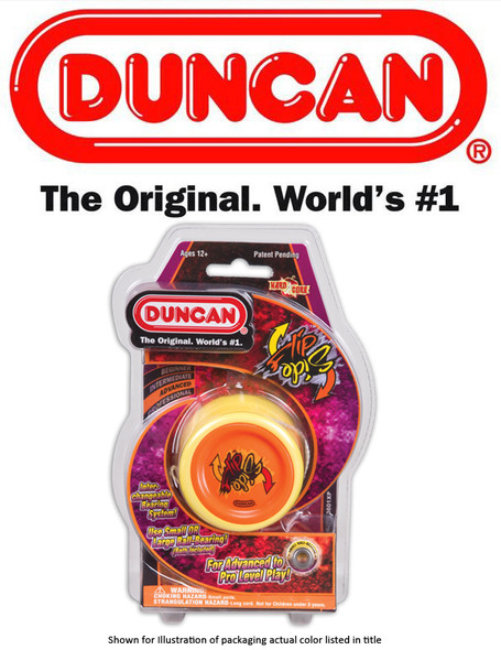 Duncan 3601XP-RED-BLUE Flipside Red Body Blue Face Yo-Yo w/ Sml and Lrg Bearing