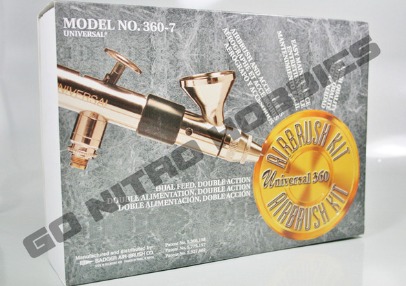 Badger 360 Universal Gravity Feed Airbrush Set w/Hose 360-7