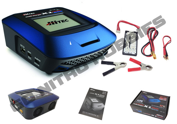 Hitec 44209 X1-200 Touch Screen Multi Charger DC LiPo/LiFe/NiCd/NiMH/Li-Ion