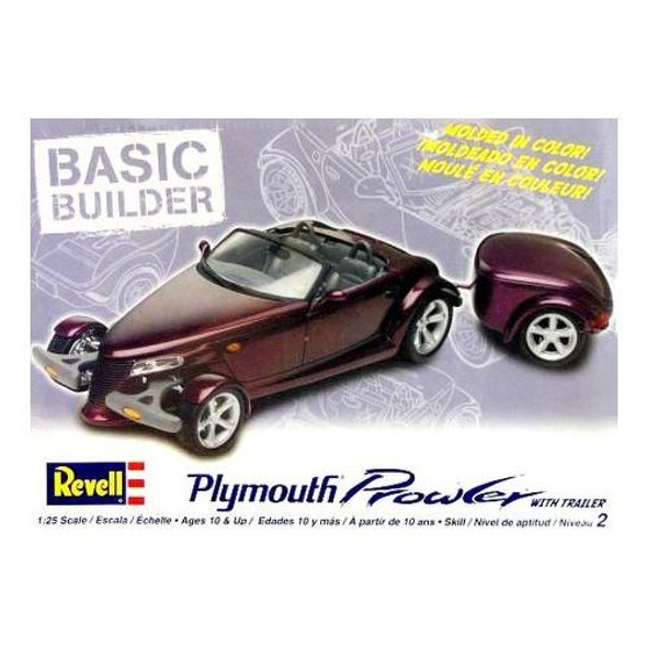 Revell 1:25 Scale Plymouth Prowler with Trailer Model Kit 85-0808