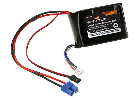 Spektrum 7.4V 2S 6000mAh LiPo Battery Receiver Pack