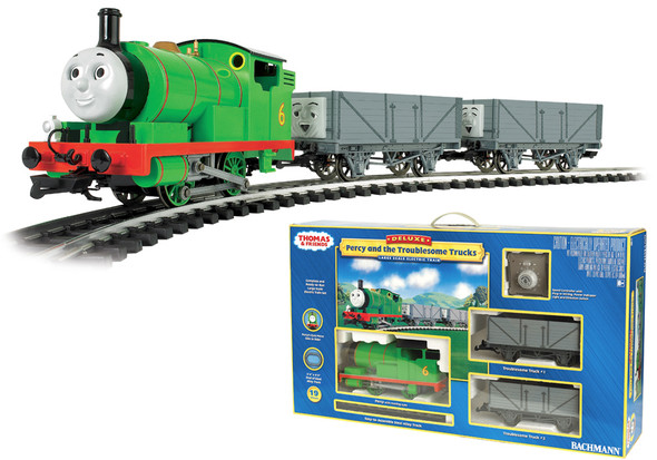 Bachmann 90069 Thomas & Friends Train Sets Percy with Troublesome Trucks G Scale