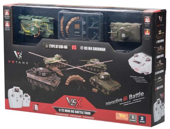 VsTank VSX 1/72 Type 97/Sherman IR Battle Tank Set