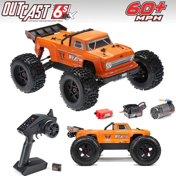 ARRMA ARA106042T2 1/8 OUTCAST 6S BLX 4WD Brushless Stunt Truck RTR Orange