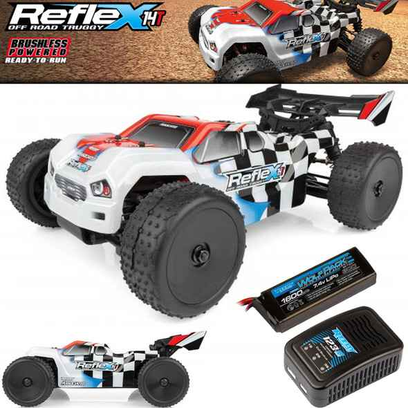 Associated 20176C 1:14 REFLEX 14T Off Road 4WD Brushless Truggy RTR w/Lipo Combo