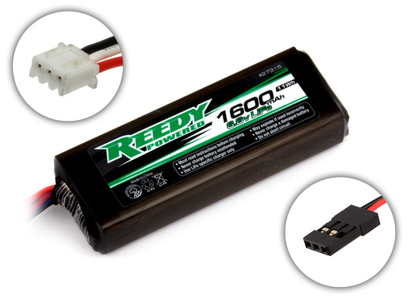Associated 27315 Reedy LiFe Pro TX/RX Battery 1600mAh 6.6V Flat