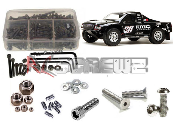 RC Screwz ASS038 Stainless Steel Screw Kit for Associated SC10 / SC10.2 2WD