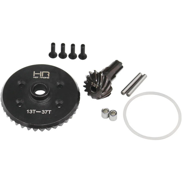 Hot Racing ATF9337 Steel Helical Diff Ring / Pinion 13T / 37T : Arrma BLX 3S 4S