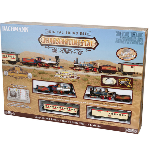 Bachmann 00827 Lmtd Edition Transcontinental Train Set w/ Digital Sound HO Scale