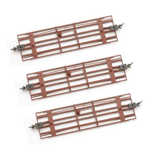 Bachmann 29907 Spectrum Freight Car Underframe Oxide Red (3) On30 Scale