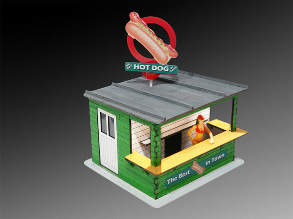 Bachmann 39204 Hot Dog Stand w/Light & Rotating Banner Kit 1/32 Slot Car