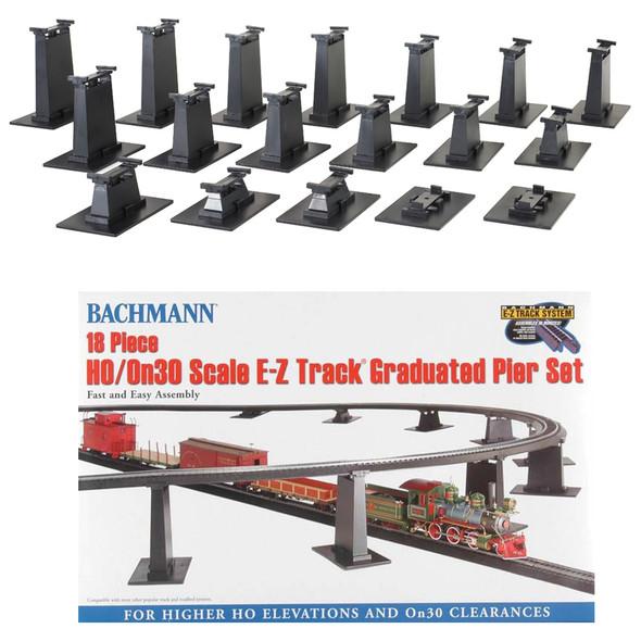 Bachmann 44595 EZ-Track 18-Piece Graduated Pier Set HO Scale