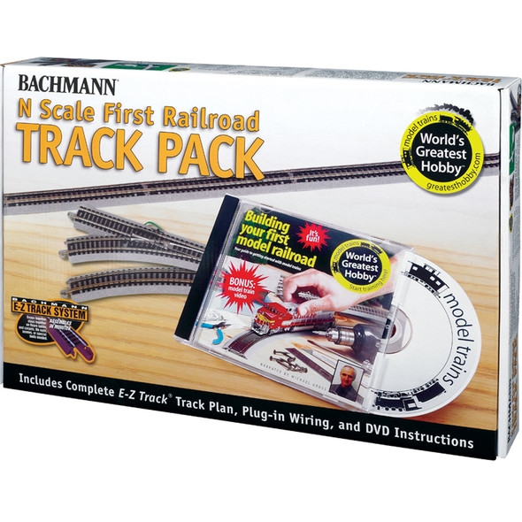 Bachmann 44896 EZ-Track World's Greatest Hobby First Railroad Track Pack N Scale