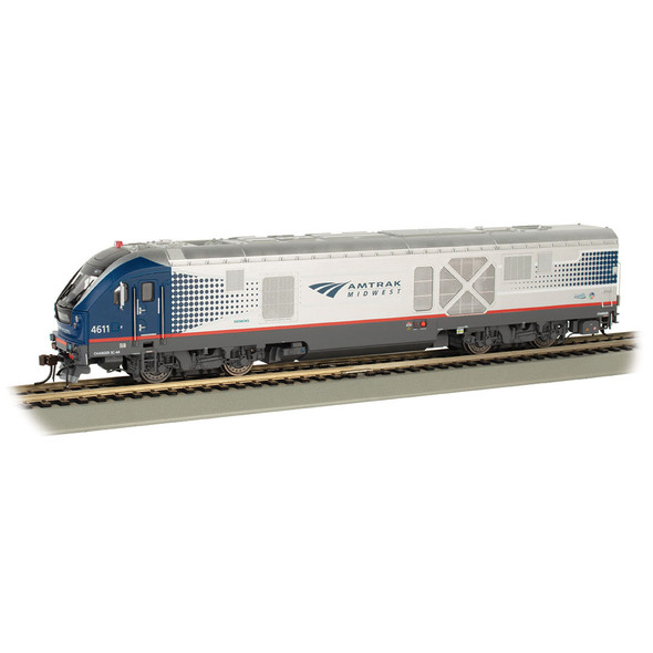 Bachmann 67902 Amtrak Midwest #4611 Charger SC 44 DCC Wowsound Locomotive HO Scale