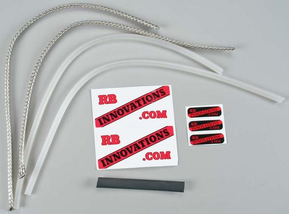 """RB Innovations Braided Fuel Line Kit 24"""" Aluminum"""