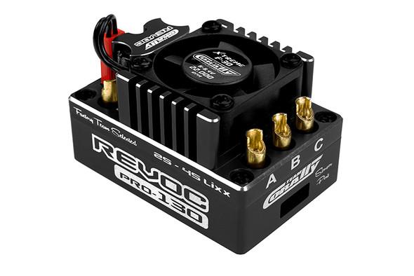 Corally C-53004-1 Revoc PRO Black 2-6S BL ESC : 1/8 Sensored & Sensorless Motors 160A