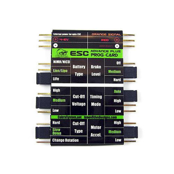Cobra ESC SPEED CONTROL Programming Card