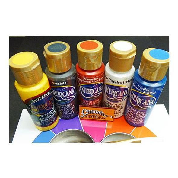 Chooch Americana 510 Rainbow First Coats Acrylic Paint 5 Color Set ( Each 2oz )