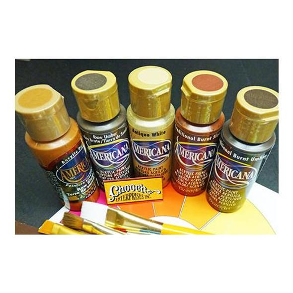 Chooch Americana 512 Weathering Earthtones Acrylic Paint 5 Color Set (Each 2oz)