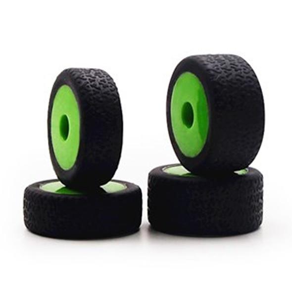 Carisma 15638 GT24B Tires, Mounted (4): Green Wheels