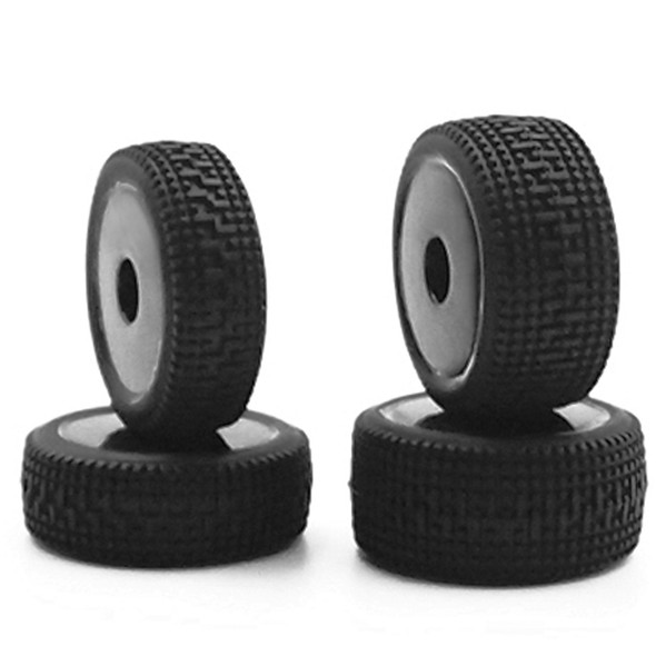 Carisma 1/24 Glued Wheels and Tires #15640 (4) GT24R Rally