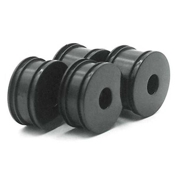 Carisma 15652 GT24R Wheel Set (4): Black