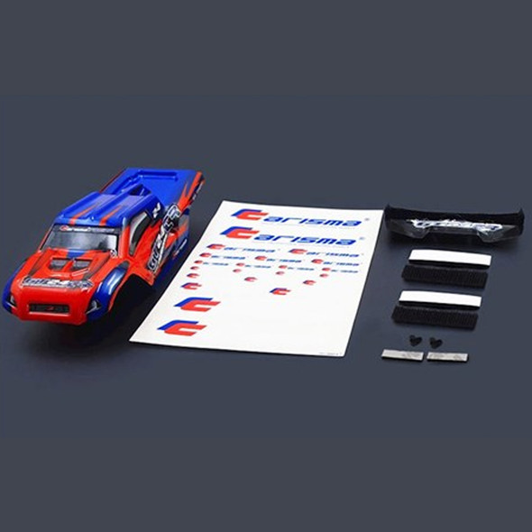 Carisma 15688 GT24TR Painted and Decorated Truggy Body (Red / Blue)