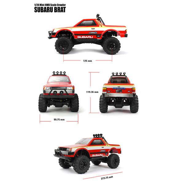 Carisma 79468 MSA-1E SUBARU BRAT 1/24th Mini 4WD Scale Crawler RTR