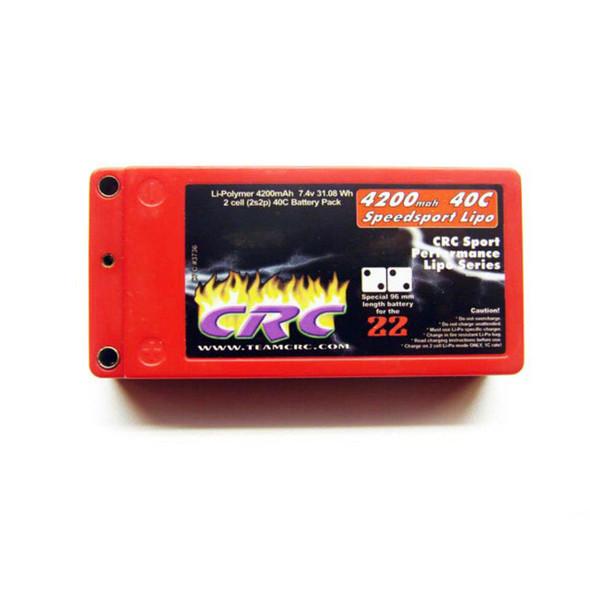 CRC CLN3736 2S 7.4V 40C Shorty 4200mah Lipo Battery w/ Bullet/Tubes Connector