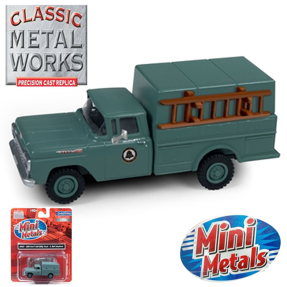 Classic Metal Works 30583 1960 Ford F-250 Utility Truck Southern Bell Telephone 1:87 HO Scale