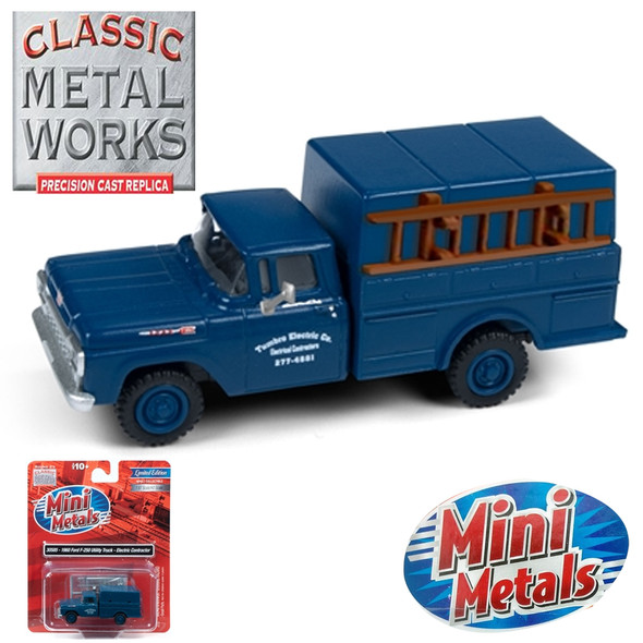 Classic Metal Works 30585 1960 Ford F-250 Utility Truck Electric Contractor 1:87 HO Scale
