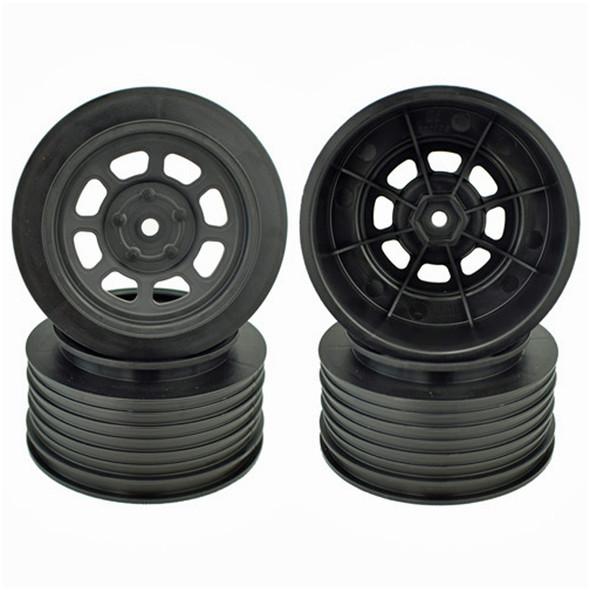 DE Racing Speedway SC Black Wheel (4) : Associated SC5M / SC10 /+3mm / 29mm BKSP