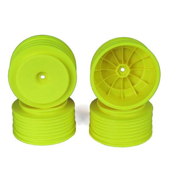 DE Racing Speedline Plus SC Yellow Wheels (4) : Associated SC5M / SC10 / +3mm