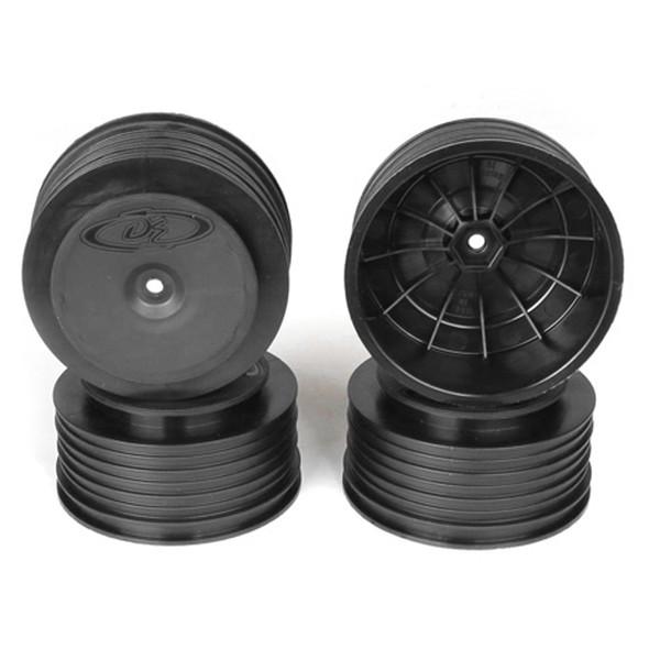 DE Racing Speedline Plus SC Black Wheels (4) : TLR 22SCT-TEN-SCTE/TEKNO SCT410