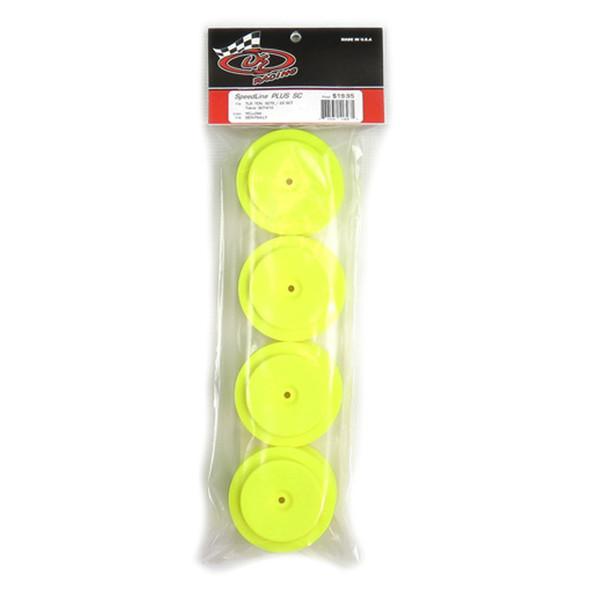 DE Racing Speedline Plus SC Yellow Wheels (4) : TLR 22SCT - TEN-SCTE / TEKNO SCT410